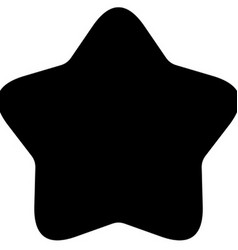 Minimalistic black rounded star icon vector image