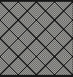 monochrome geometric seamless squares pattern vector image
