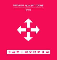 move icon symbol graphic elements for your vector image