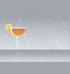 Official cocktail icon the unforgettable sidecar vector