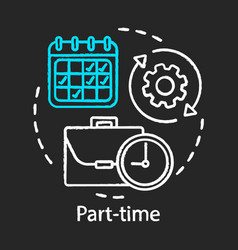 Part-time chalk icon work in shifts temporary vector