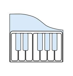 piano keyboard music technology vector image