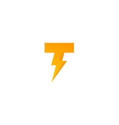 Power letter t logo icon design vector