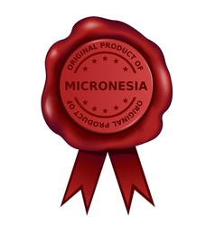 Product Of Micronesia Wax Seal vector image
