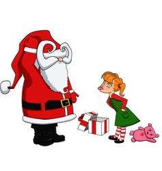 Santa and bad girl vector image