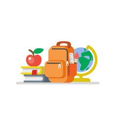 school flat design vector image