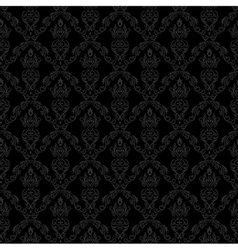 Seamless Damask Wallpaper 1 Gray Color vector image