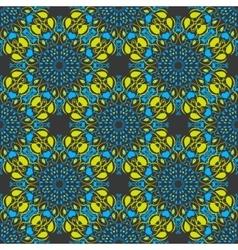 Seamless mandala pattern in moroccan arabic style vector image