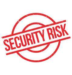 security risk rubber stamp vector image