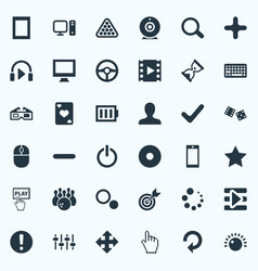 Set simple play icons vector