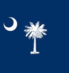 South carolina flag united states america vector