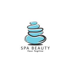 spa - template logo for spa lounge beauty salon vector image