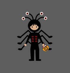 spider halloween costume vector image