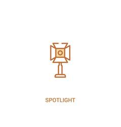 spotlight concept 2 colored icon simple line vector image