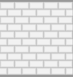 Subway brick tile wall vector