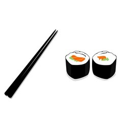 Sushi chopstick vector