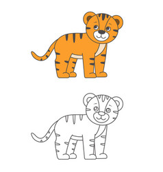 Tiger for coloring book vector
