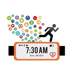 tracker fitness wearable technology healthy vector image