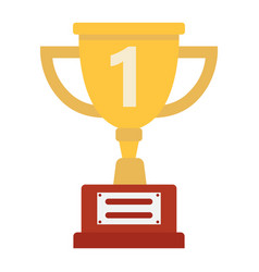 trophy cup flat icon winner and award vector image