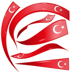 turkey flag set vector image
