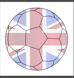 union jack soccer football vector image