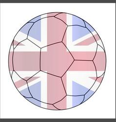 Union jack soccer football vector