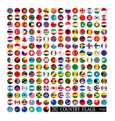 world flags all color isolated vector image