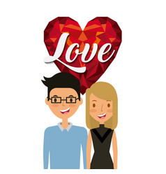 young couple design vector image