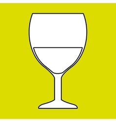cup glass drink icon vector image