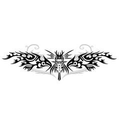 fantasy fire dragon vector image