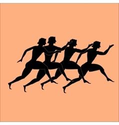 greece runers vector image vector image