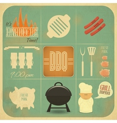 Grill and Barbecue Menu vector image vector image
