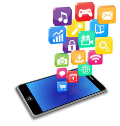 smart phone applications on a white vector image vector image