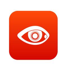 eye icon digital red vector image