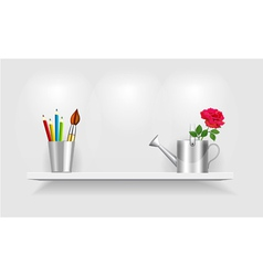 Shelf design vector image