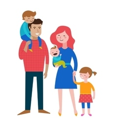 Gay families Happy family couple with kids vector image vector image