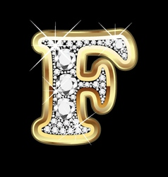 Letter fgold and diamond vector