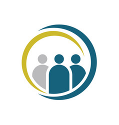 people group connecting logo vector image