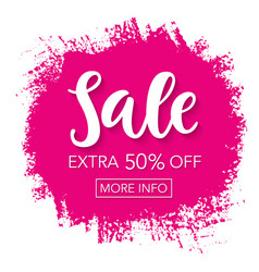 sale banner template vector image