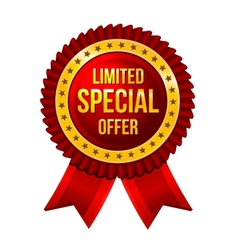 Special Offer label with ribbons vector image vector image