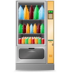 vending water is a machine isolated on white backg vector image