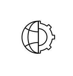 globe settings icon vector image