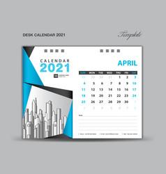 April 2021 template desk calender 2021 vector