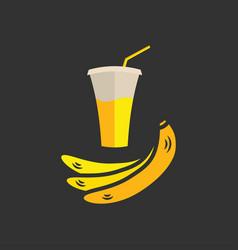 Banana juice banner or menu vector