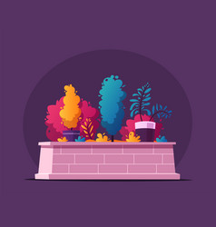 beautiful plants cartoon vector image