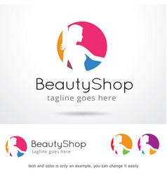 Beauty shop logo template design vector