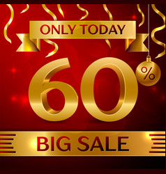 big sale sixty percent for discount vector image