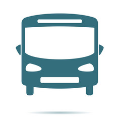 blue bus icon isolated on background modern flat vector image