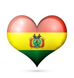 Bolivia Heart flag icon vector