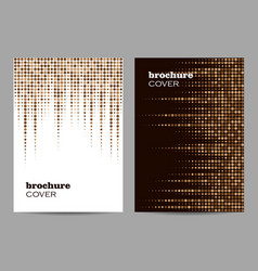 Brochure template layout design abstract brown vector